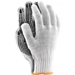 Rękawice robocze dzianinowe nakrapiane RDZN WB