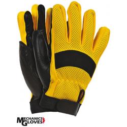 Skórzane rękawice ochronne do prac mechanicznych