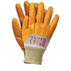 Rękawice ochronne powlekane do pracy z olejami i smarami
