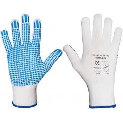 Rękawice ochronne poliamidowe z nakropkiem