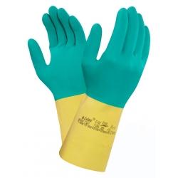 Rękawice chemiczne Ansell Bi-Colour ochrona przed bakteriami,  grzybami i wirusami.