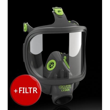 Maska przeciwgazowa 3150 + filtr ABEK1P3 R serii 400